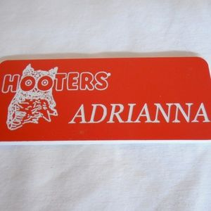 Other - HOOTERS GIRLS NAME TAGS ADRIANNA BARBARA CHEYENNE